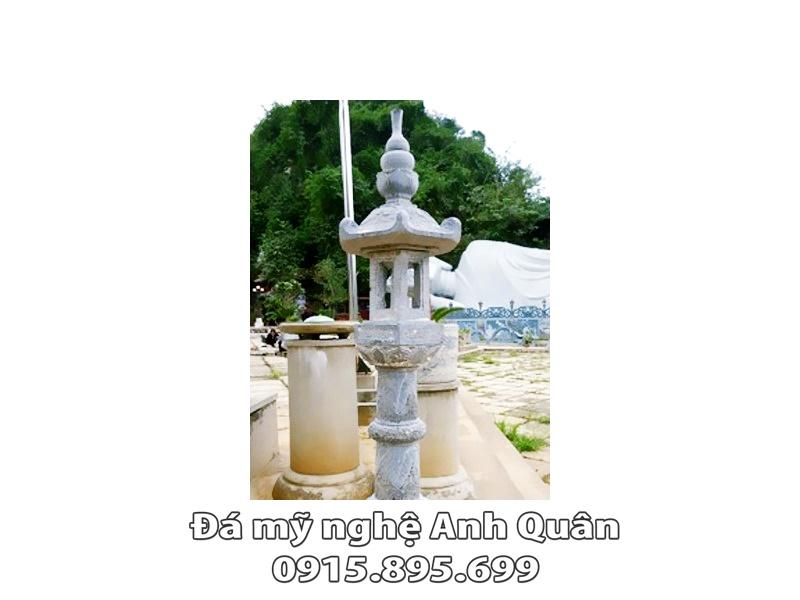 Mẫu đèn đá trang trí ĐẸP nhà Bác Quân ở Hà Giang