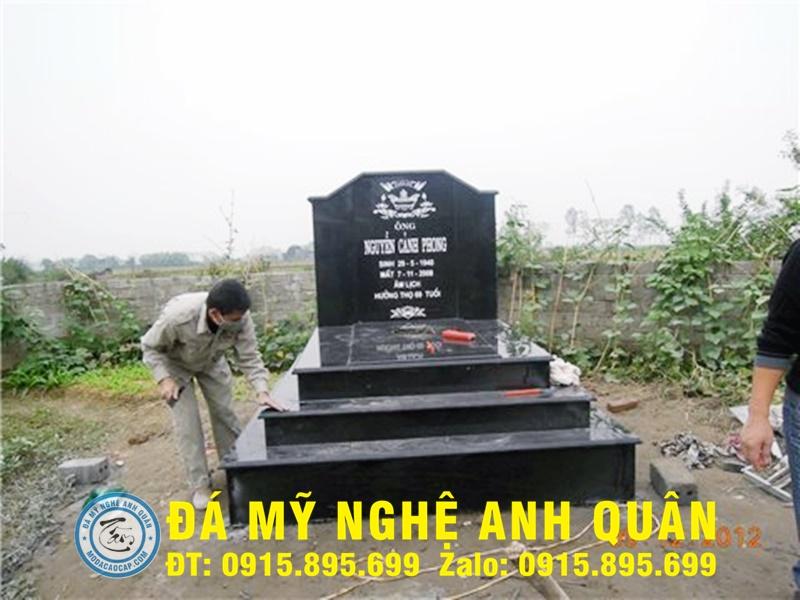 Mộ đá hoa cương ĐẸP tại Thái Bình
