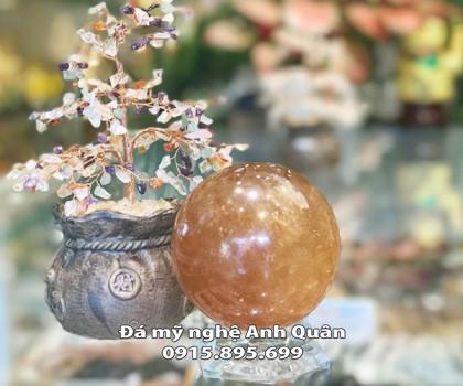 Quả cầu đá thạch anh vàng non(826 gr) FM191-F3-1620.