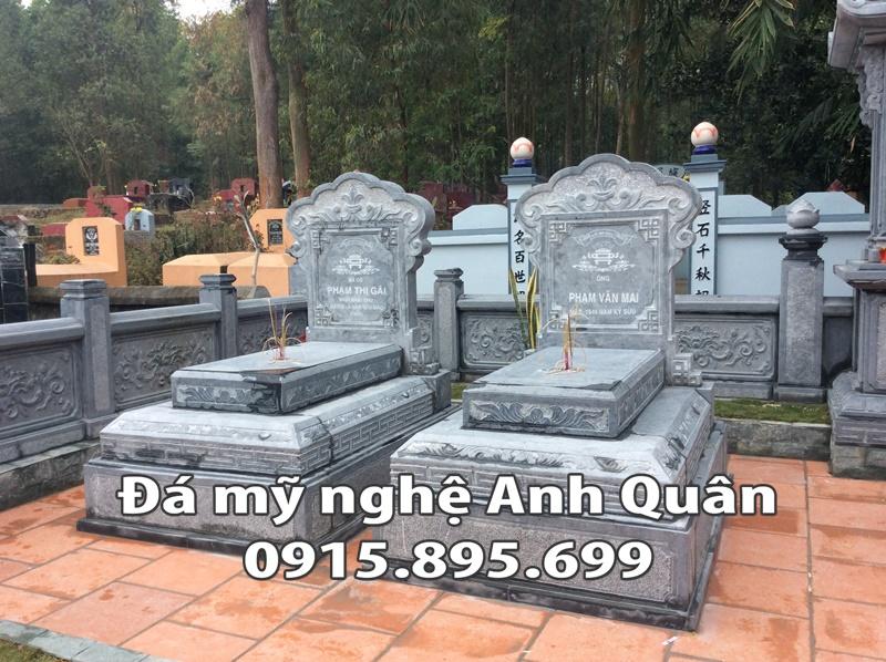 Mộ đá đơn ĐẸP tại Bắc Giang