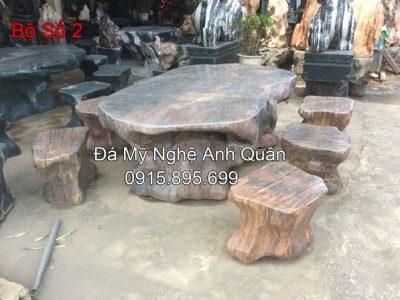 Bàn ghế đá tự nhiên ĐẸP 32