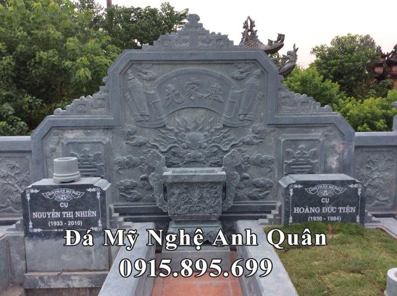 Buc Binh Phong Da hau banh xanh reu dep cho Lang Mo Da